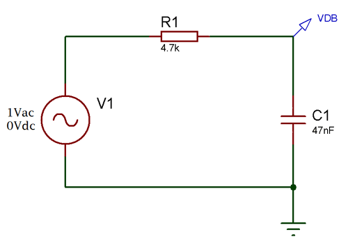 first order low pass filter