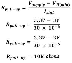 Formula for Finding value of Pull-up Resistor