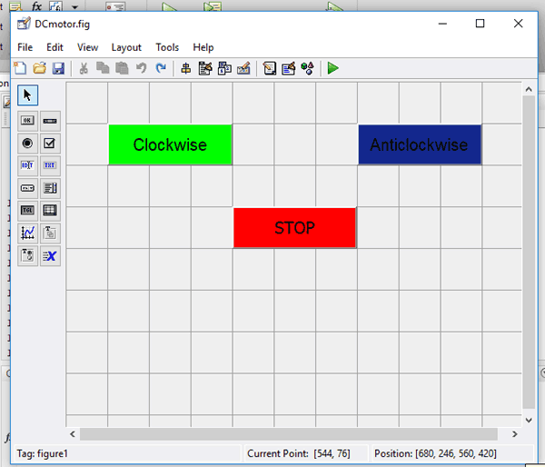 GUI for DC Motor Control Using MATLAB
