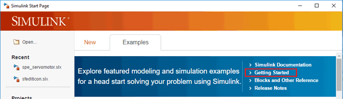 Getting Started Tutorial for Simulink
