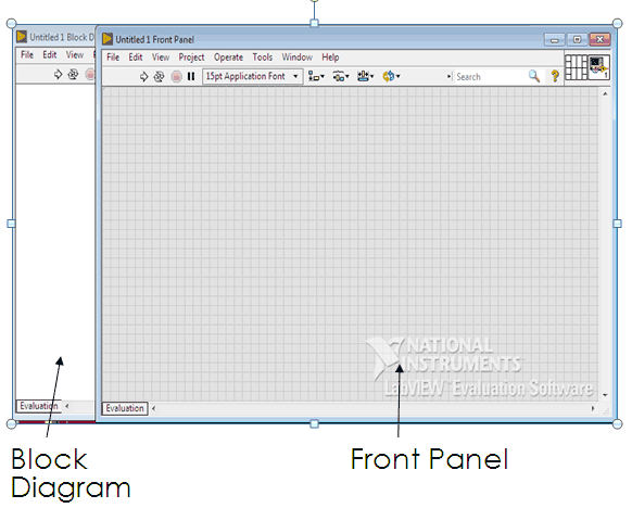 Getting Started window of LabVIEW