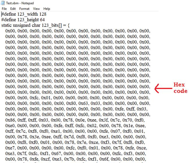 Hex code of IPL image
