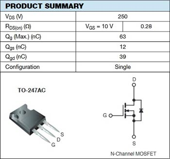 IRFP244 Power MOSFETs Pinout and Specification