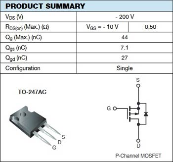 IRFP9240 Power MOSFETs Pinout and Specification