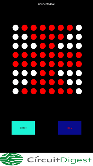 Interface of Android Application for Bluetooth controlled matrix display