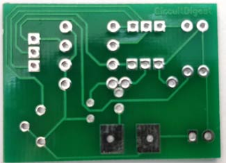 Lie Detector Circuit PCB back-side