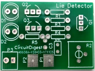 Lie Detector Circuit PCB front-side