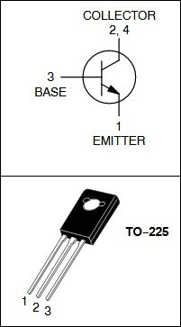 MJE340 NPN medium power transistor Pinout
