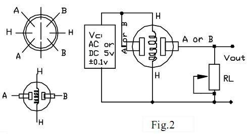 MQ-137 Ammonia sensor pinout