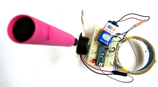 Metal Detector using Arduino in action