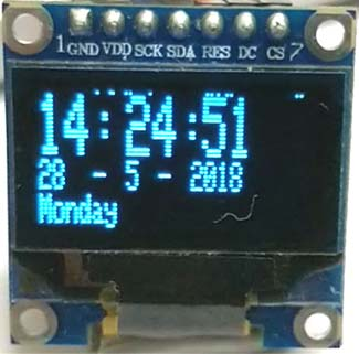 ESP32 Real Time Clock using DS3231 Module and OLED Display