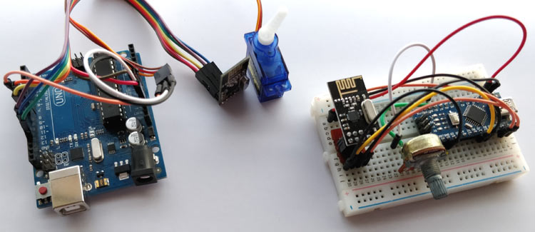 NRF24L01 with Arduino in action