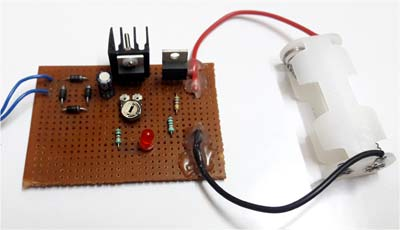 Ni-Cd Battery Charger Circuit hardware