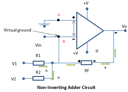 Non Inverting Adder Circuit