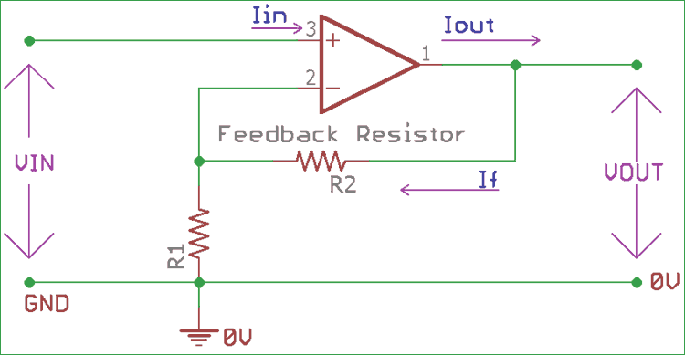 Non-inverting Operational Amplifier (Op-amp): Circuit Design ... on