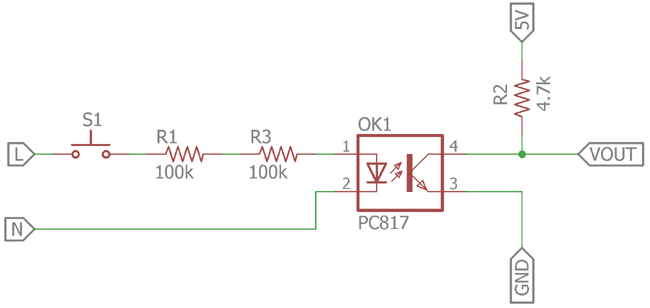 Optocoupler for Detecting AC Voltage