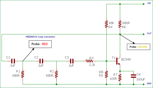 Circuit Diagram Of Oscillator | Phase Shift Oscillator Circuit Diagram