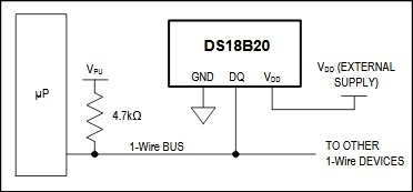 Powering the DS18B20