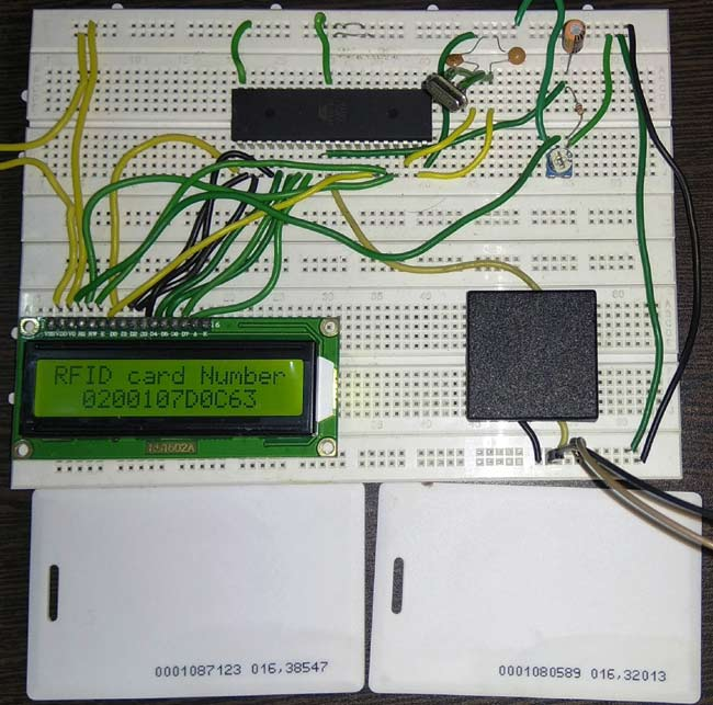 RFID Interfacing with 8051 Microcontroller in action