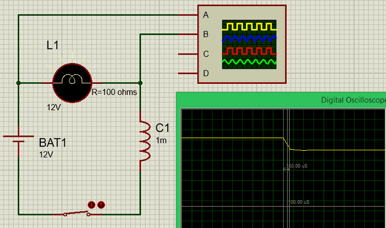 RL circuit diagram
