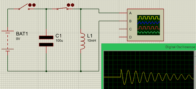 RLC circuit diagram