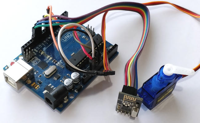 Receiver part for Interfacing NRF24L01 with Arduino