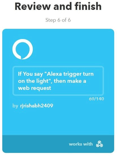 Review and finish Alexa command