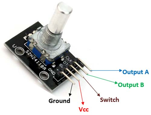 What is Rotary Encoder and How to Use KY-040 Rotary Encoder with Arduino