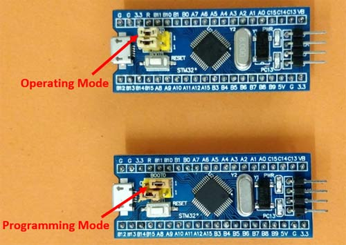Programming STM32F103C8 Board (Blue Pill) using USB Port