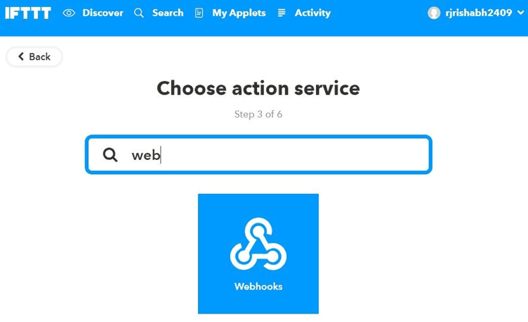 Search for Webhooks click on it and Select Make a Web Request