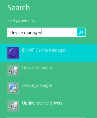 Search for device manager