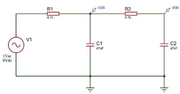 Second Order Low Pass Filter