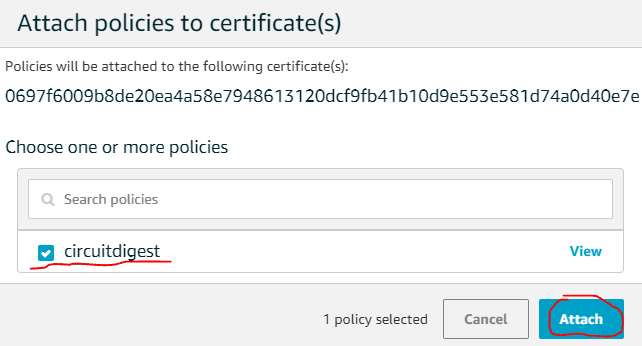 Select the name of the policy and click on accept button