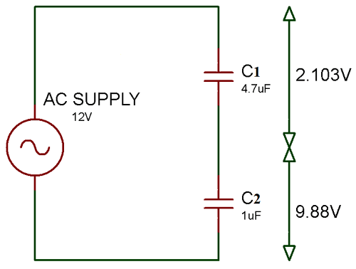 Series Capacitor Circuit Example