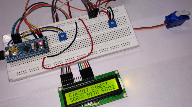 Servo Motor in -action with STM32F103C8