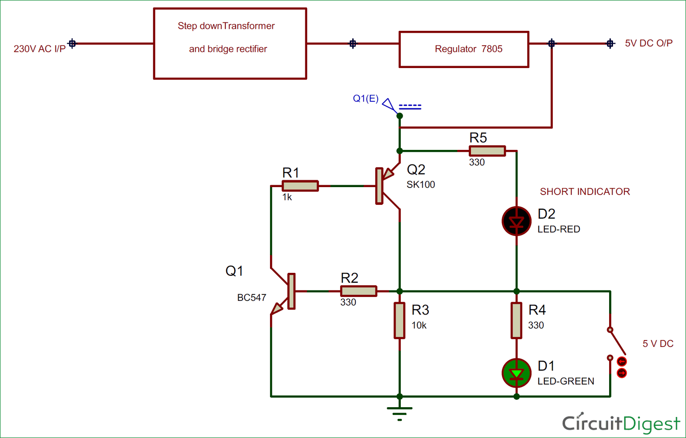 short circuit protection circuit diagram rh circuitdigest com