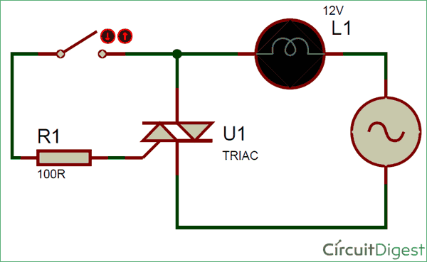 what is triac switching circuit and applicationssimple triac switching circuit diagram