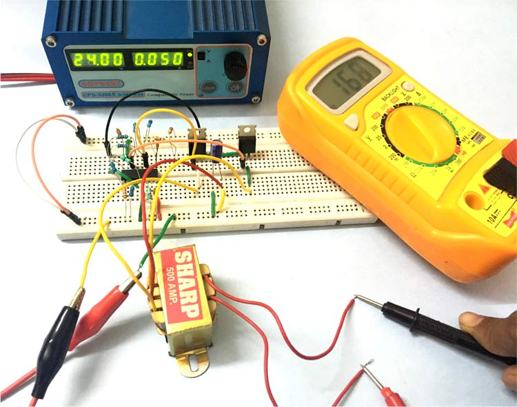 Solar Inverter Circuit in action