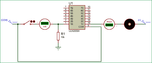 Switching a Motor using ULN2003 IC