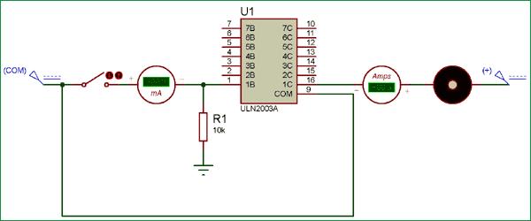 ULN2003 IC kullanarak bir Motoru Değiştirme