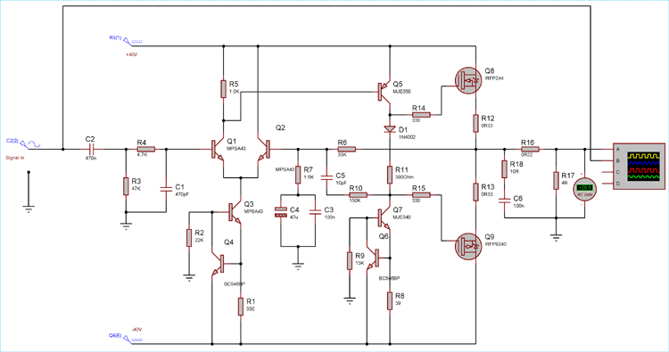 Transistor Power Amp Circuit Diagram 700w Power Amplifier With | #1