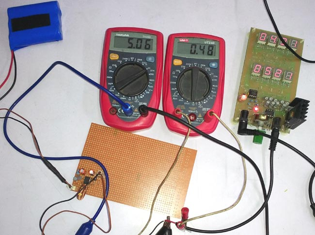 Testing 3.7V to 5V Boost Converter Circuit with lithium battery