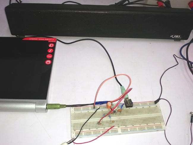 Testing Single Transistor Audio Mixer Circuit
