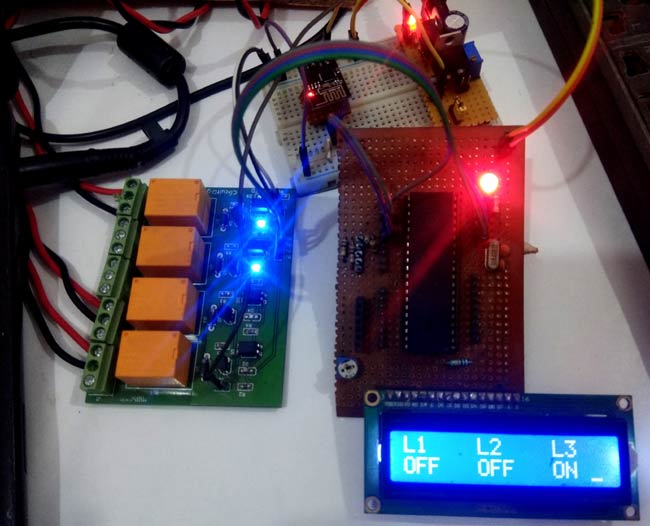 Testing Web Controlled Home Automation Project