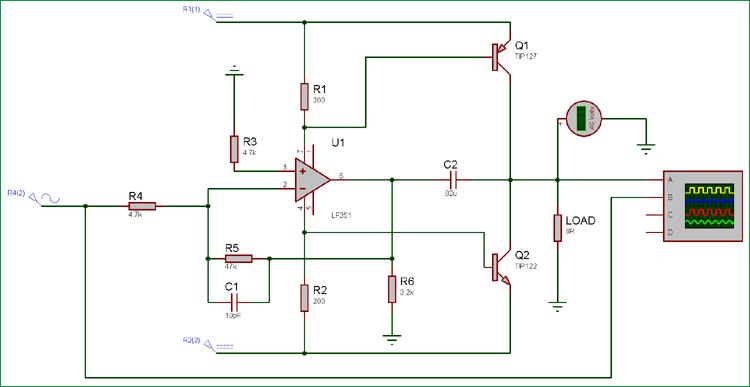 10 Watt Audio Amplifier Circuit Diagram Using Op