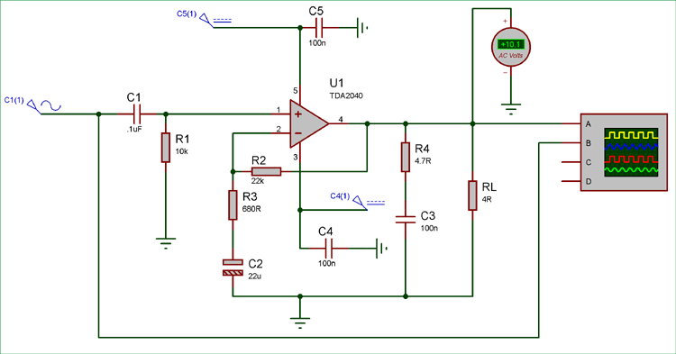 Testing the 25 watt Amplifier Circuit