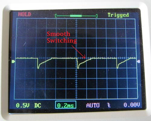 Thyristor Switching waveform with Snubber Circuit