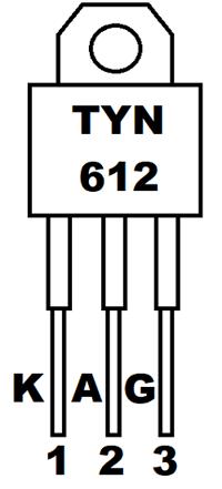 Thyristor TYN 612 Pinout