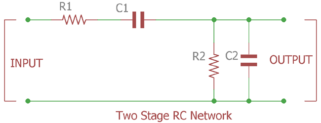 Two stage RC network