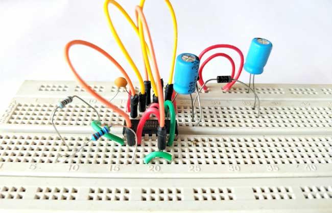 Voltage Doubler Circuit Diagram Using Ic 4049 Electronic Circuit